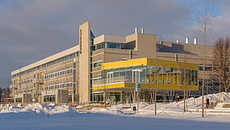 Ultuna - A building of the Swedish University of Agricultural Sciences, January 2013.