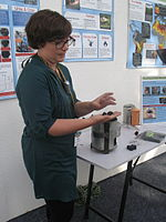 Biochar produced from artificial faeces by the Sol-Char System (13359313315).jpg