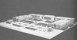 Baskerville House - Model of the planned Civic Centre