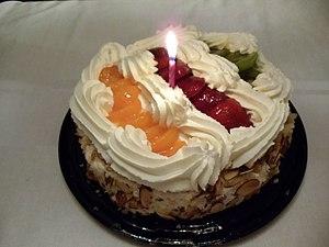 A Birthday cake.