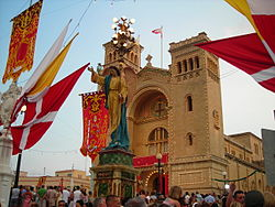 Birżebbuġa' St. Peter in Chains Church during the annual festa