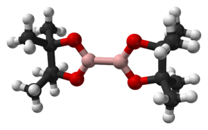 Bis(pinacolato)diboron - Image: Bis(pinacolato)dibor on from xtal 1984 3D balls web