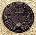 Bisanzio, moneta d'argento.JPG