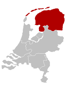 Location of the Diocese of Groningen-Leeuwarden in the Netherlands