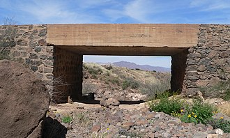 National Register of Historic Places listings in Greenlee County, Arizona - Image: Black Gap bridge (Greenlee Co, AZ) from S 1