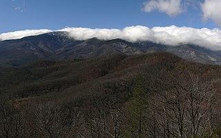 mountain range in western North Carolina