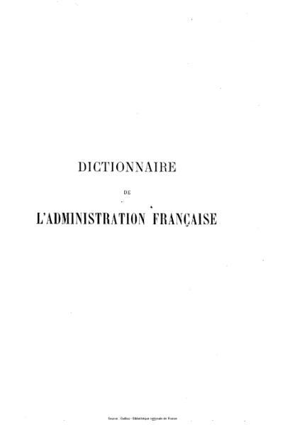File:Block - Dictionnaire de l'administration française, tome 1.djvu