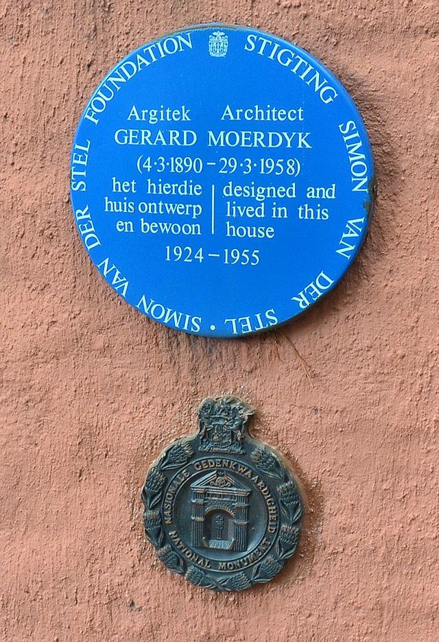Photo of Gerard Moerdyk blue plaque