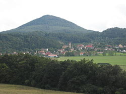 Bořislav with Milešovka hill