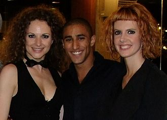 Boaz Ma'uda - With two dancers from Andorra, Belgrade, May 2008