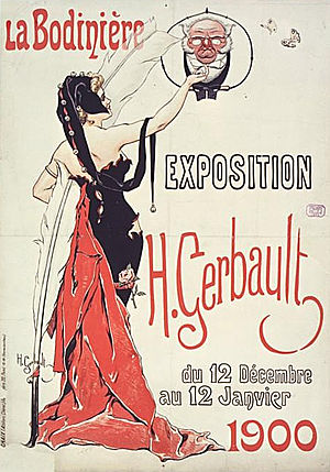 La Bodinière - Poster for the exposition by H. Gerbault  (12 December 1899 – 12 January 1900)