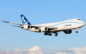 Lift (force) - The wings of the Boeing 747-8F generate many tonnes of lift.