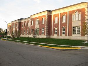 Grosse Pointe South High School - The John and Marlene Boll Athletic Center (Looking North)