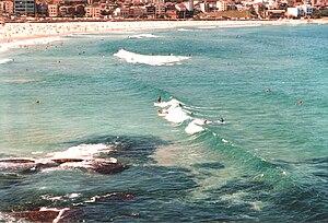 Surfing in Australia - Bondi Beach surfers, 2000