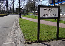 Bord Welkom in Aldenhof.JPG