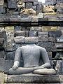 Borobudur - Buddha Statue - 014 Bhumisparsa Mudra, Akshobhya (11678849105).jpg