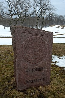 Borre mound cemetery Burial mound site in Norway