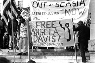 Angela Davis - Protest against the Vietnam War, 1970