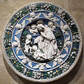 Bottega di andrea e giovanni della robbia, tondo dell'adorazione del bambino, 1500 ca..JPG