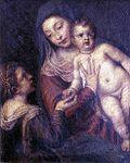 Bottega di tiziano, Madonna con Bambino e Santa Caterina d'Alessandria.jpg