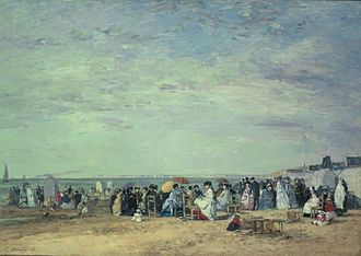National Museum of Western Art - Image: Boudin Beach of Trouville