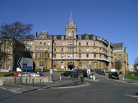 Bournemouth Town Hall was built in the Victorian period, originally serving as a hotel for visitors to the town. Bournemouth town hall.jpg