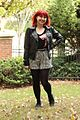 Bow Print Shirt, Black Leather Jacket, Houndstooth Shorts, and Studded Loafers (23663505726).jpg