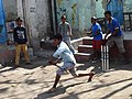 Boys Playing Cricket - Working-Class Neighborhood - Suburban Kolkata - India (12287932744).jpg
