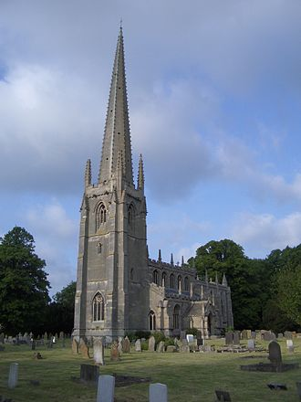 William Warburton - St Mary's church at Brant Broughton, where Warburton was rector from 1727
