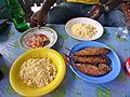 Breakfast of Attieke and fried fish (33403482835).jpg