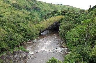 Kiwira River - Daraja la Mungu, a natural bridge spanning Kiwira River west of Tukuyu