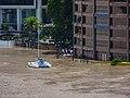 Brisbane River Town Reach Riverwalk in flood from Story Bridge Fortitude Valley P1090901.jpg