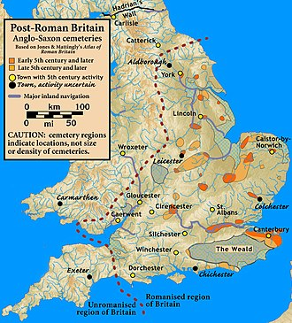 Anglo-Saxon settlement of Britain - Early cemeteries of possible Settler origin