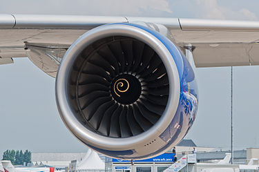 British Airways Airbus A380-841 F-WWSK PAS 2013 07 Trent 970 engine.jpg