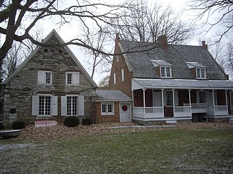 American colonial architecture - Bronck House, Coxsackie, NY, built 1663; Dutch Colonial