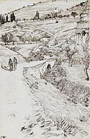 Brooklyn Museum - The Bridge of Kedron and the Tomb of Absalom (Le pont de Cédron et le tombeau d'Absalom) - James Tissot.jpg
