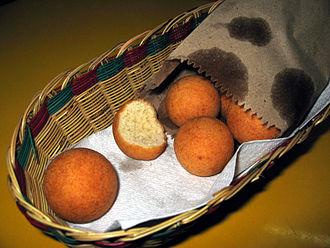 Deep frying - Buñuelos