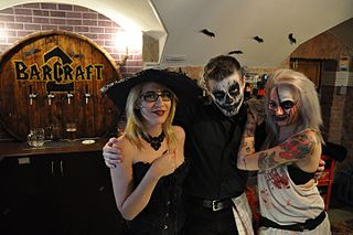 costumes worn on or around Halloween, a festival which falls on October 31