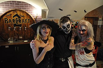 Halloween costume - People dressed as Ghouls during Halloween in Budapest