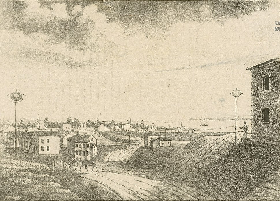 Buffalo Harbour from the village (NYPL b13476046-424509)