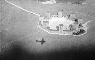 Tannenberg Memorial - Aerial view 1944, from a Luftwaffe plane.