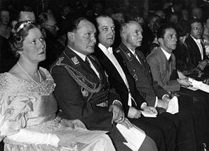 Emmy Göring - Emmy Sonnemann with Hermann Göring at a concert in February 1935