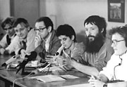 Bundesarchiv Bild 183-1990-1015-012, Berlin, Pressekonferenz der Grünen
