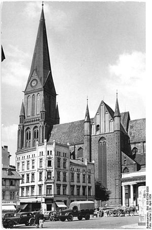 Diocese and Prince-bishopric of Schwerin - Cathedral of Ss. Mary and John the Baptist, Schwerin, preaching venue of the Landesbischof of Mecklenburg.