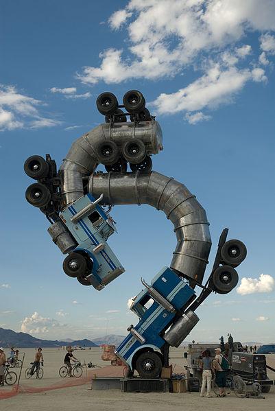 File:Burning Man 2007 semi trucks.jpg