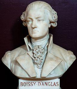Buste de François-Antoine de Boissy d'Anglas -- Salle du serment du jeu de paume -- Versailles