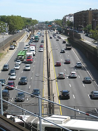 Cross Bronx Expressway - Eastward from Westchester Avenue