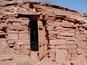 National Register of Historic Places listings in Wayne County, Utah - Image: CCC Powder Magazine UT NPS