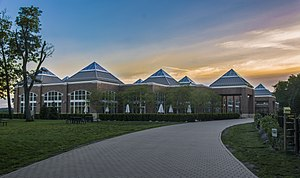 Hyde Park campus of the Culinary Institute of America - Student Commons, holding the recreation center and the Egg dining hall