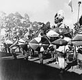 COLLECTIE TROPENMUSEUM Luo dansers in krijgskostuum tijdens de Eldoret Agricultural Show TMnr 20014319.jpg